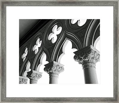 Support System Bw Framed Print by Slade Roberts