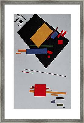 Suprematist Composition Framed Print by  Kazimir Malevich
