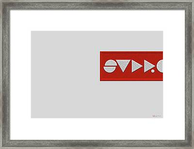 Supreme Being Embroidered Abstract - 2 Of 5 Framed Print by Serge Averbukh