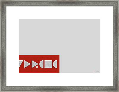Supreme Being Embroidered Abstract - 3 Of 5 Framed Print by Serge Averbukh