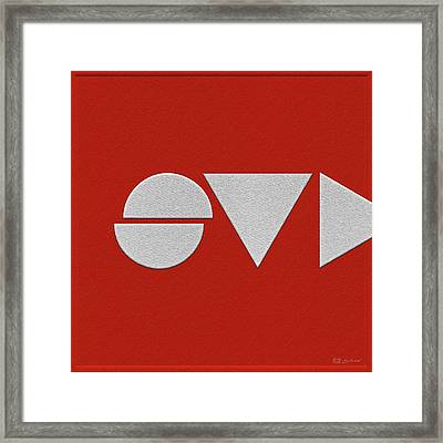 Supreme Being Embroidered Abstract - 4 Of 5 Framed Print by Serge Averbukh
