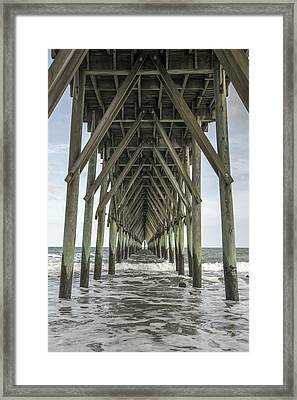 Surf City Pier Classic Framed Print by Betsy C Knapp