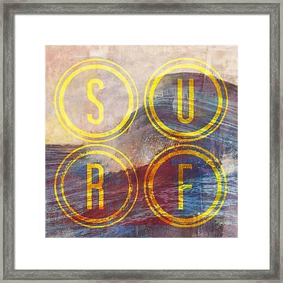 Surf V2 Framed Print by Brandi Fitzgerald