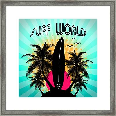 Surf World  Framed Print by Mark Ashkenazi