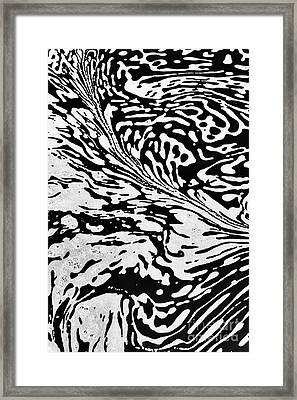 Surface Motion Framed Print by Tim Gainey