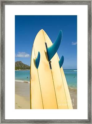 Surfboard Framed Print by Dana Edmunds - Printscapes