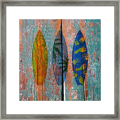Surfboard Fun Framed Print by Anthony Robinson