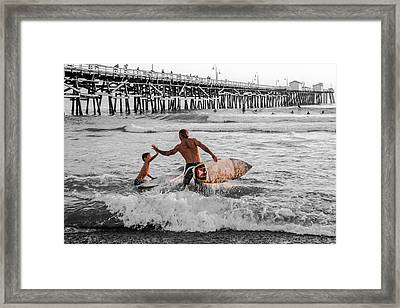 Surfboard Inspirational - Selective Color Framed Print by Scott Campbell