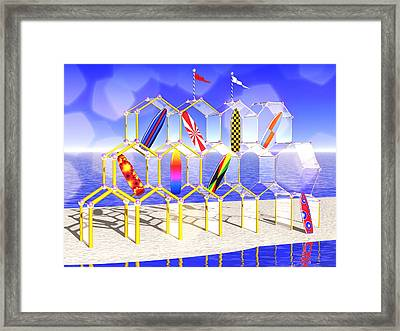 Surfboard Palace Framed Print by Andreas Thust