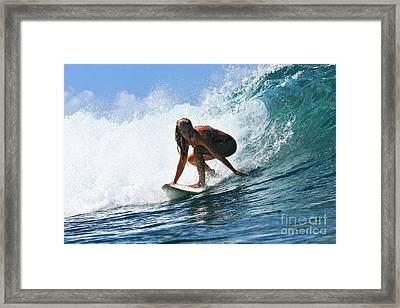 Surfer Girl At Bowls 8 Framed Print by Paul Topp
