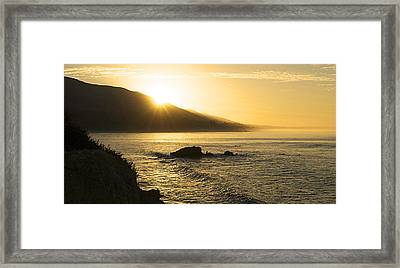 Surfers Morning Framed Print by Ron Regalado