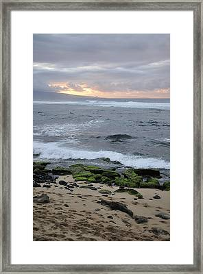 Surfing Sunset Framed Print by Andy Smy