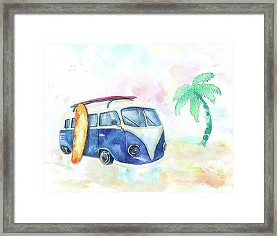 Surfin' Usa Framed Print by Colleen Taylor