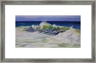 Surfs Up Framed Print by Jeanne Rosier Smith