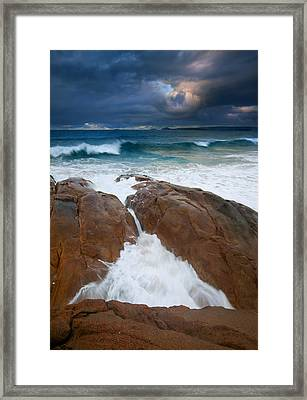 Surfs Up Framed Print by Mike  Dawson