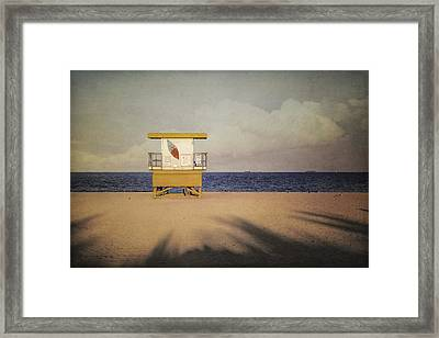 Surf's Up W Textures Framed Print by Eduard Moldoveanu