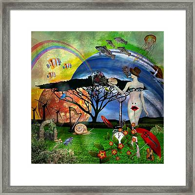 Surreal Dreamers Framed Print by Ally  White