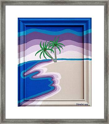 Surreal Palms Framed Print by Lourdes  SIMON