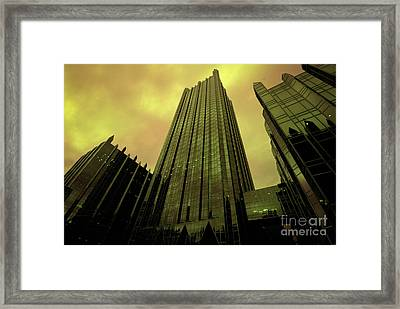 Surreal View Of Ppg Plaza Pittsburgh Framed Print by Amy Cicconi
