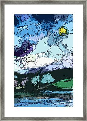 Surrealistic Landscape Framed Print by Mindy Newman