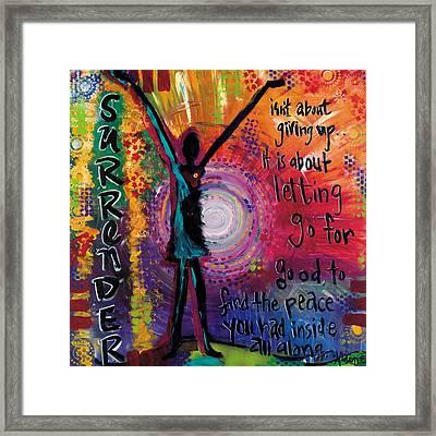 Surrender Framed Print by Allison Crow