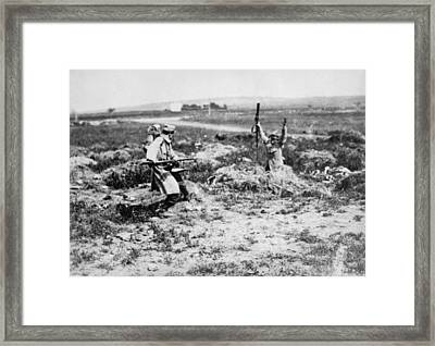 Surrender At Bayonet Point Framed Print by Underwood Archives