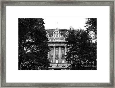 Surrogates Court Exterior Mono Framed Print by John Rizzuto
