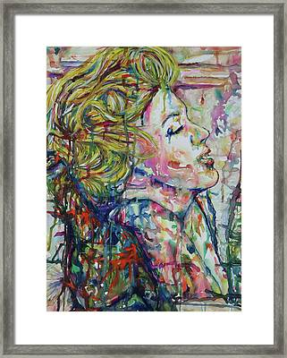 Surround Marylin Framed Print by Joseph Lawrence Vasile