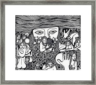 Surround Yoursel With Roses Love Drink And Be Silent The More Is Nothing Framed Print by Jose Alberto Gomes Pereira