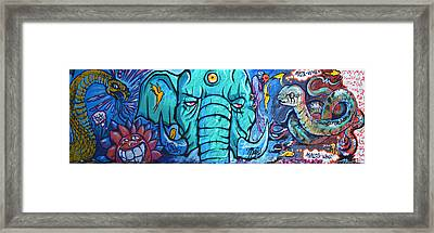 Surrounded By Snakes Framed Print by Fraida Gutovich