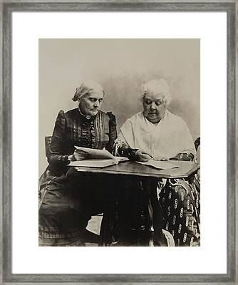 Susan B. Anthony And Elizabeth Cady Framed Print by Everett