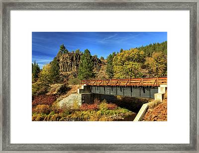Susan River Bridge On The Bizz Framed Print by James Eddy
