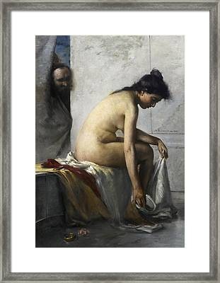Susanna In The Bath Framed Print by Lovis Corinth