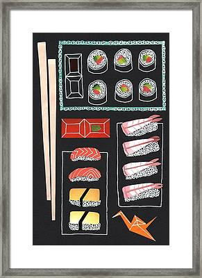 Sushi Framed Print by Isobel Barber
