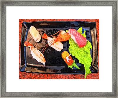 Sushi Plate 2 Framed Print by Dominic Piperata