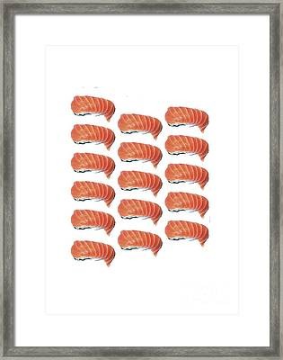 Sushi T-shirt Framed Print by Edward Fielding