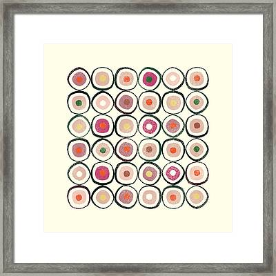 Sushi Framed Print by Tonya Doughty