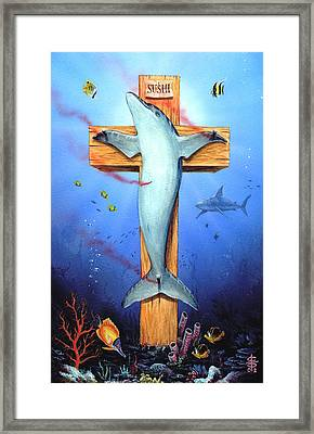 Sushi Framed Print by Victor Whitmill