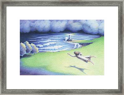 Suspended In Light Framed Print by Amy S Turner