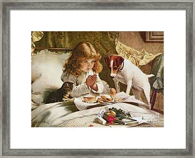 Suspense Framed Print by Charles Burton