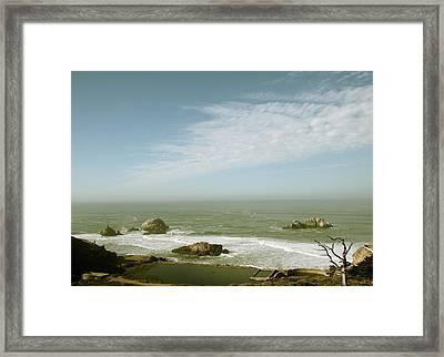 Sutro Baths San Francisco Framed Print by Linda Woods