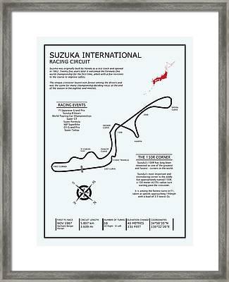 Suzuka International Racing Circuit Framed Print by Mark Rogan