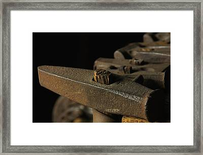 Swag Hammers Framed Print by Wilma  Birdwell