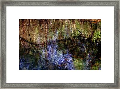 Swamp Abstract Framed Print by Greg Mimbs