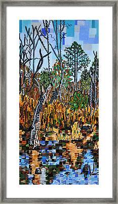 Swamp At Old Crews Road Framed Print by Micah Mullen