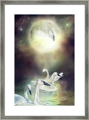 Swan Dreams Framed Print by Carol Cavalaris