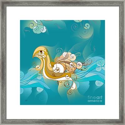 Swan Waves Framed Print by Bedros Awak