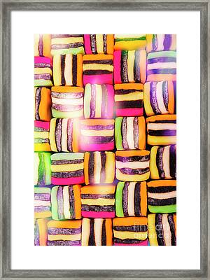 Sweet And Colorful Chewy Candy Background Framed Print by Jorgo Photography - Wall Art Gallery