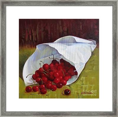 Sweet Cherries Framed Print by Elena Oleniuc