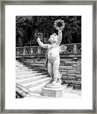 Sweet Cherub Biltmore Estate Framed Print by William Dey